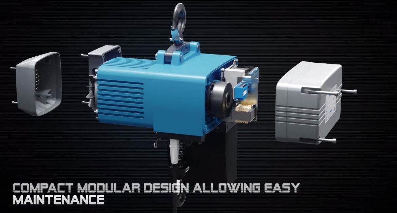 Tractel Oy:lle tuotettu 3D animaatio havainnollistamaaan ketjunostimen rakennetta.