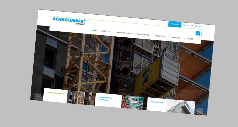 Scanclimber web-sivusto